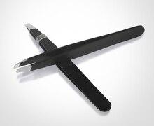 Safety and health stainless steel eyebrow tweezers bevel eyebrow clip to eyebrow defeathering tweezers xiumei dao