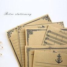 Блокнот с настоящими буквами 8 листов/Набор Европейский Винтажный стиль бумага для письма хорошее качество культура канцелярские принадлежности крафт офис XZ04