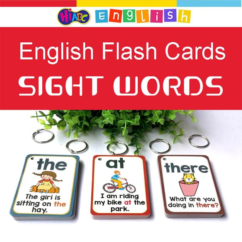 300 pièces/ensemble anglais soupir mots cartes d'apprentissage poche FlashCards éducation d'apprentissage jouets éducatifs éducatifs Montessori - 5