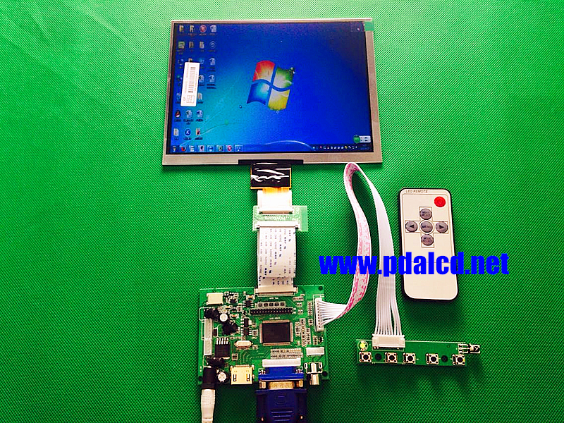 HDMI/VGA/AV Control Driver Board + 8inch HJ080IA-01E 1024*768 IPS high-definition LCD Display For Raspberry Pi