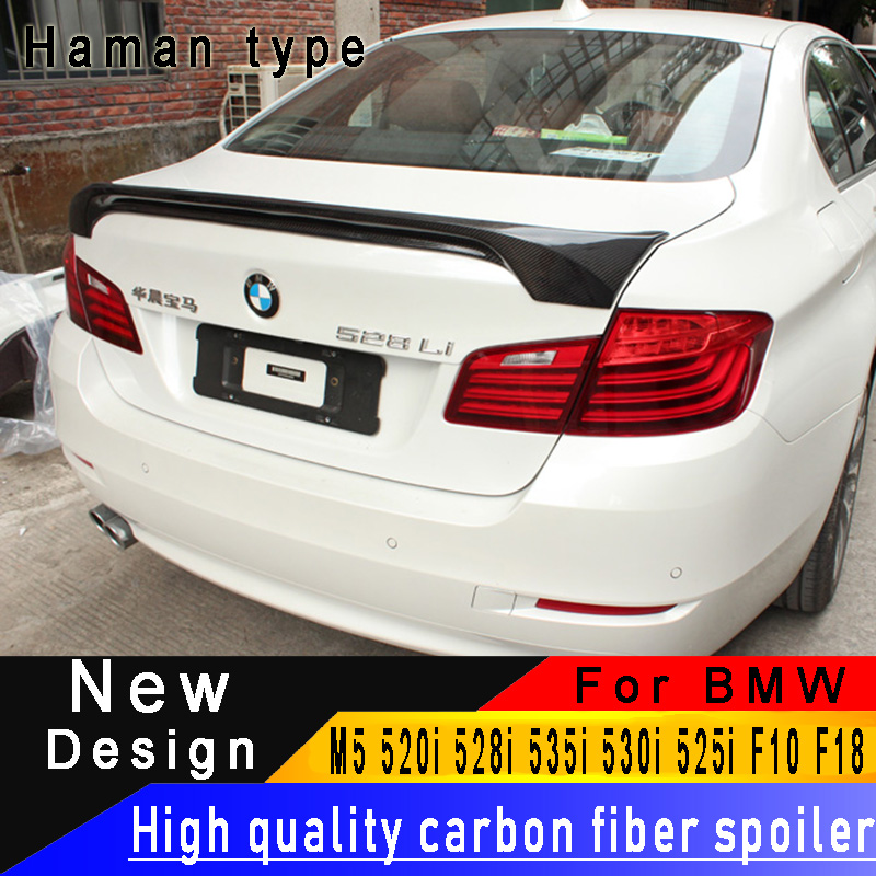 For BMW 5 Series F10 F18 M5 520i 528i 535i 530i 525i 2010 2016 Carbon Fiber