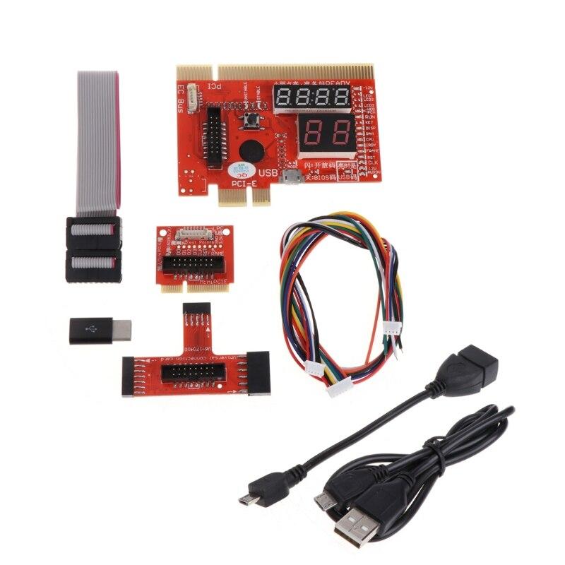 KQCPET6 V6 tipo B depuración ordenador portátil de escritorio del teléfono móvil Tarjeta de diagnóstico para el PCI/LPC/MiniPCI -E/CE