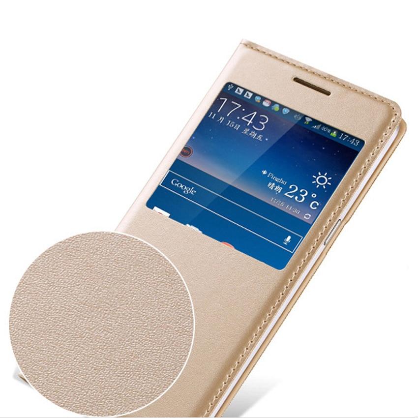 Slim View Window Phone Case Läder Skyddande Flip Cover Holster För - Reservdelar och tillbehör för mobiltelefoner - Foto 4