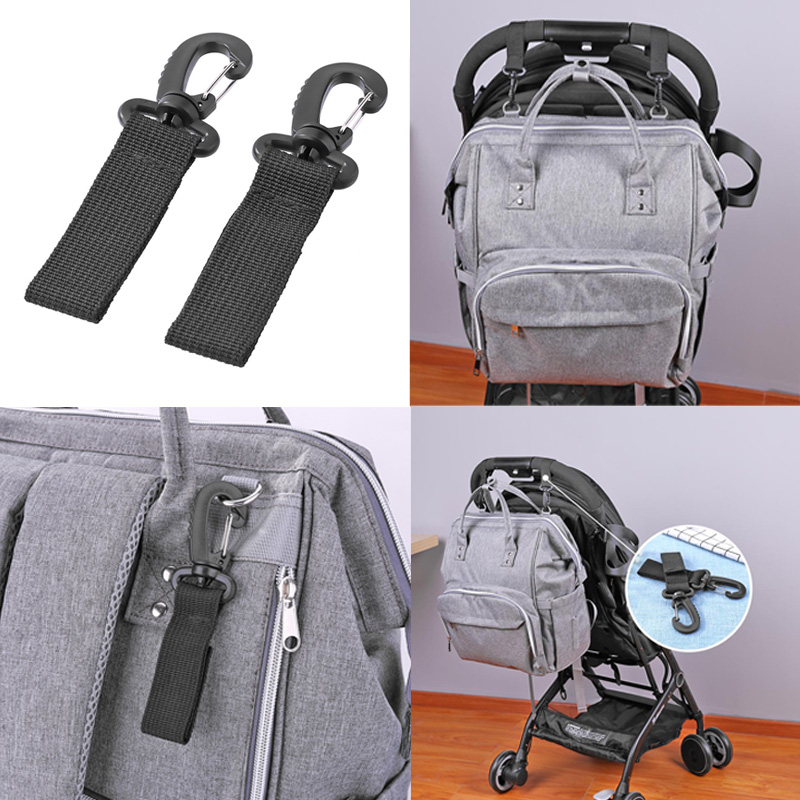 2pcs/Set Baby Stroller Hooks Stroller Accessories Wheelchair Stroller Pram Carriage Bag Hanger Hook Strollers Shopping Bag Clip
