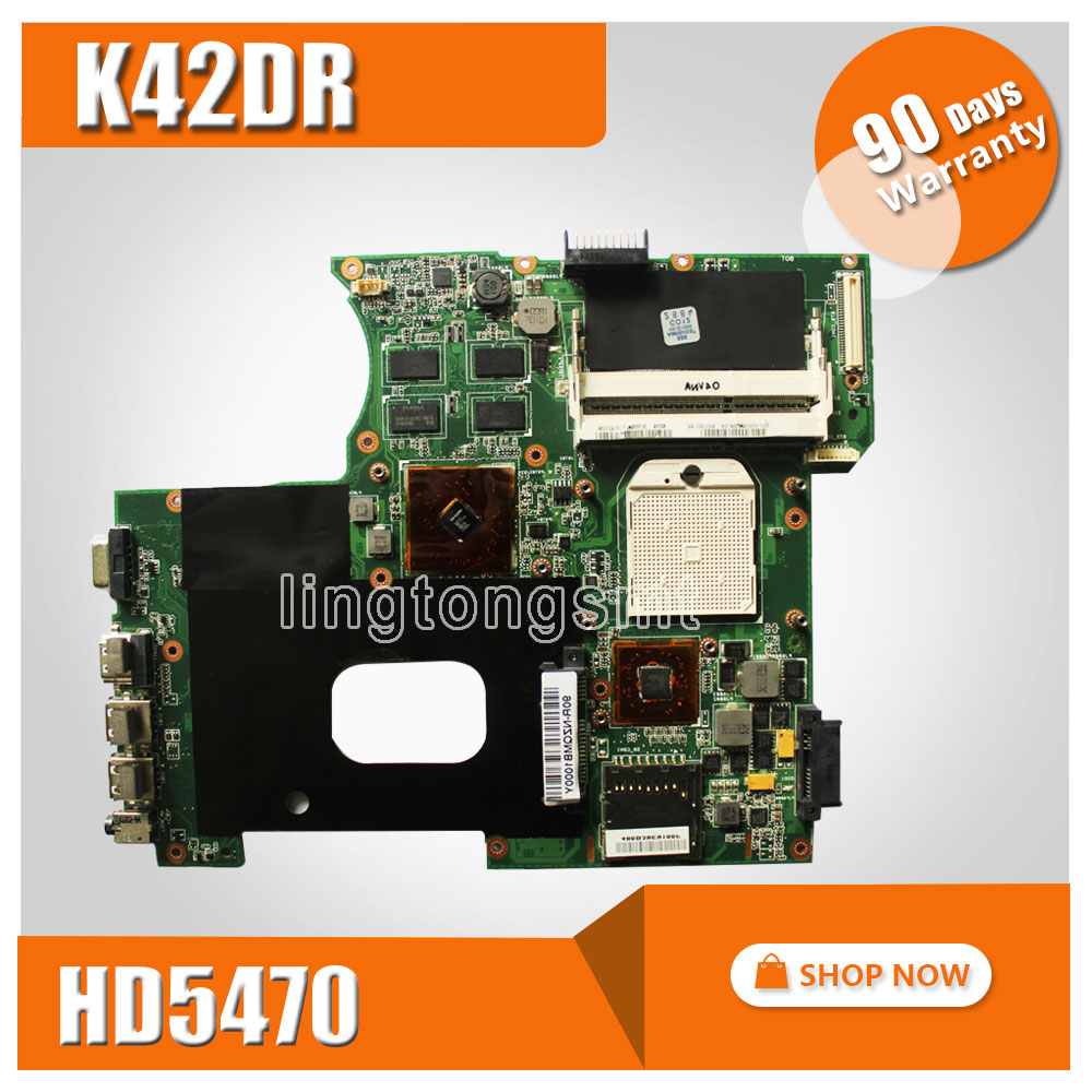 For ASUS K42DR Motherboard fit laptop A42DE K42DE A42DR K42DE K42DR K42DY X42D X42DR X42DE mainboard 4 Memory 512M 100% test samxinno for asus x751ma motherboard x751md rev2 0 mainboard processor n2830 2g memory on board 100% test