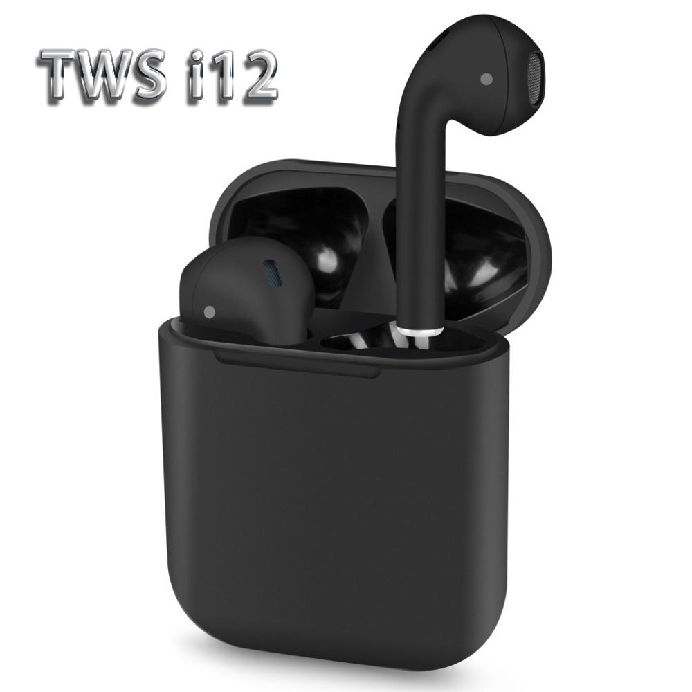 12 tws Bluetooth Earphone Wireless earphones Touch control Earbuds 3D Surround Sound & Charging case for iPhone Android phone
