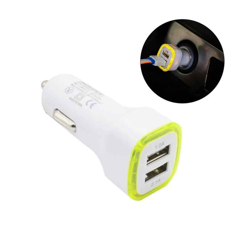 1 قطعة سيارة شاحن USB العالمي المحمولة ذكي مزدوجة المزدوج البسيطة العملي الطاقة محول للهاتف الأجهزة الرقمية سادة