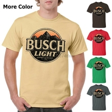 7eb95e3f1f Busch Light Beer T-Shirt Custom Designed Color Worn Label Pattern(China)