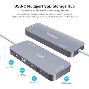 Image 4 - MINIX NEO C S2 Hub USB USB C SSD multipuerto almacenamiento tipo C Hub HDMI USB 3,0 120G/240G transferencias de alta velocidad todo en uno para MacBook