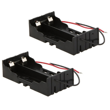 MasterFire 80pcs/lot New Plastic 2 x 3.7V 18650 Battery Storage Box Holder Case Cover Black With Wire Leads