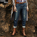 Boyfriend Jeans Para Mujeres 2016 de La Venta Caliente Freeshipping Ocasional Mediados Loose Pantalones Harem Denim Ripped Jeans Rasgados Agujero C502