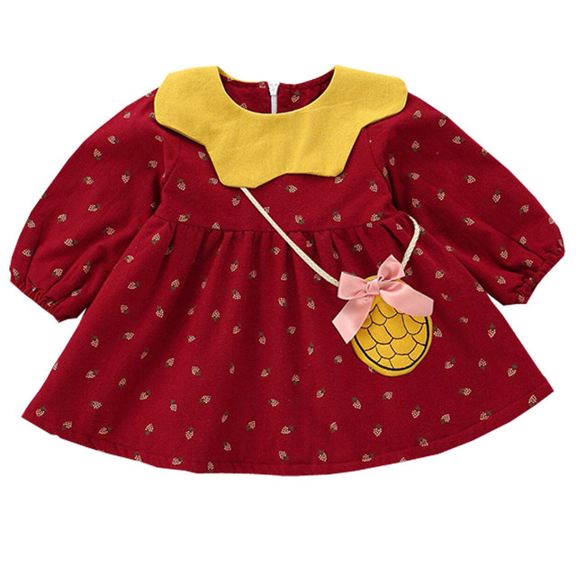 Brand New Baby Clothes Autumn Winter Baby Dress Girl Clothing Full