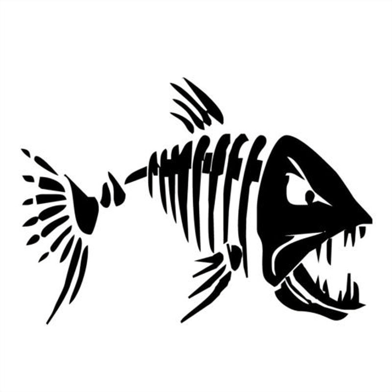 YJZT 17.8*12.6CM Mad Fish Funny Decal Car Window Decoration Vinyl Stickers Motorcycle Accessories C4-0750