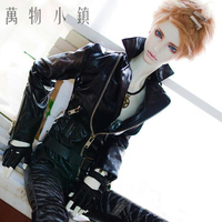 NEW Boy Metal Zipper Black Handsome Leather Tops/ Coat 1/3 1/4 SD13 BOY SD17 Uncle SSDF BJD MSD Doll Clothes