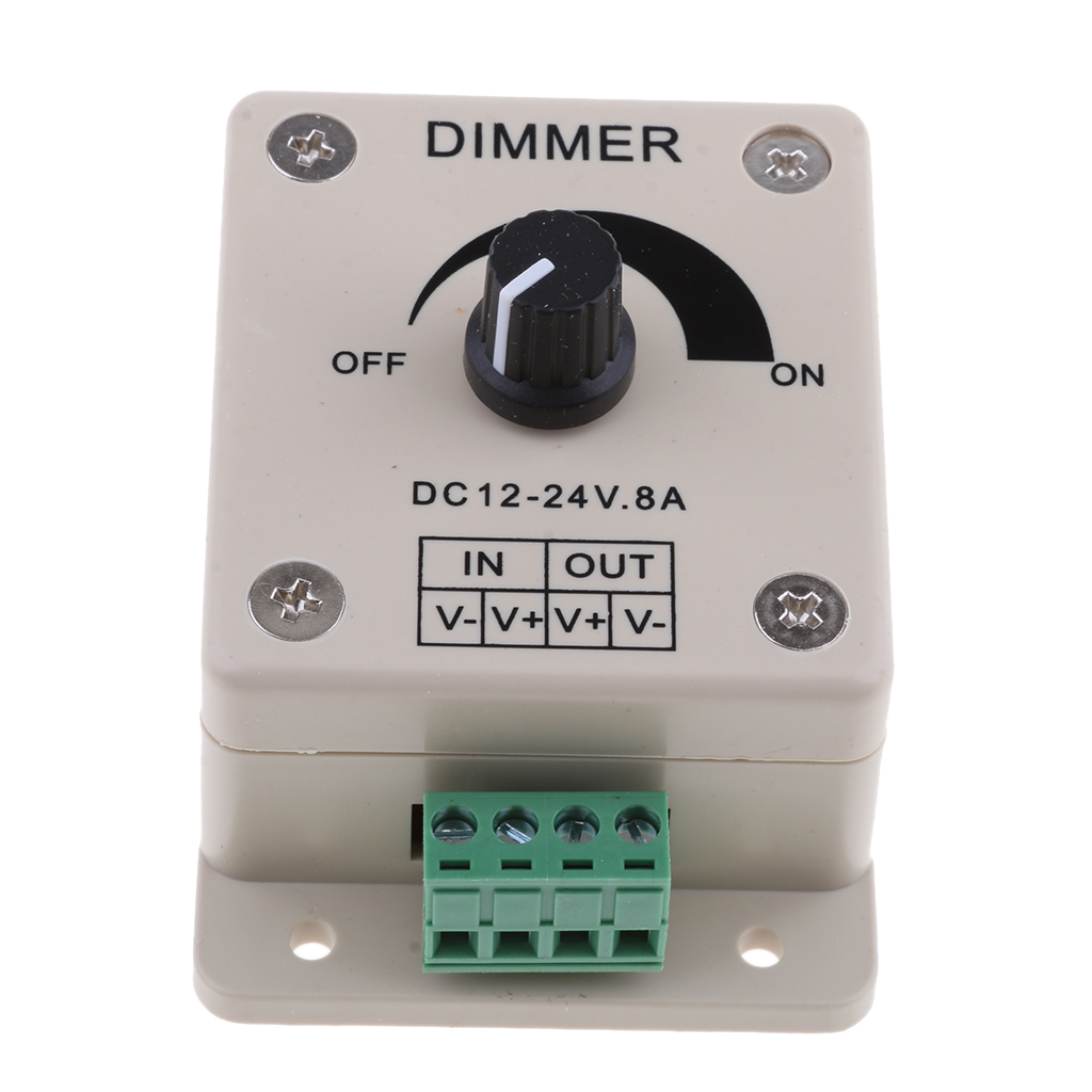 Marine DC 12V 8A LED Strip Dimmer PWM Dimming Controller
