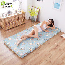 Slow Forest Multi Function Folding Sponge Mattress Tatami Mat 8cm Thickness Student Dormitory Bed Mat(China)