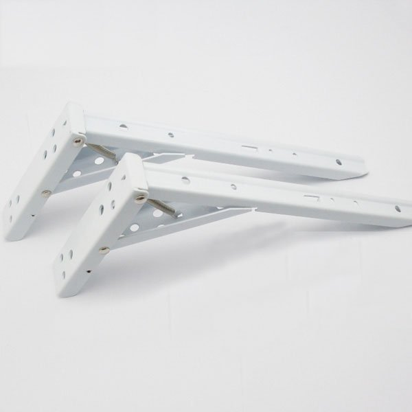 цены 8'' Hardware Accessories Shelf Brackets White Steel Bracket Pair