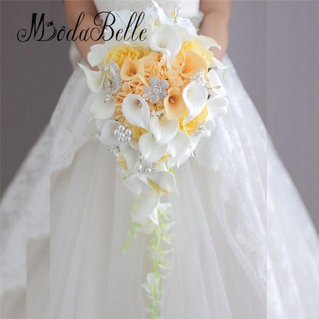 Фото букет для невесты modabelle в западном стиле с кристаллами искусственные