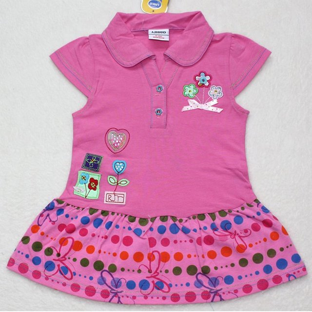 2012 Lastest kids beautiful model dresses,baby girl party dress,100%cotton girls summer mini frock,5pcs/lot,free shipping