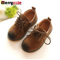 Primavera do vintage da moda couro crianças shoes meninos shoes martin botas feminino