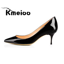 Kmeioo Sexy Women's High Heels Shoes Woman Pumps Wedding Shoes Red Zapatos Mujer Tacon Women's High Heels Shoes Stiletto 2018 lanyuxuan new zapatos mujer tacon women shoes fashion women pumps ultra high heels platform party dance shoes woman 01 8