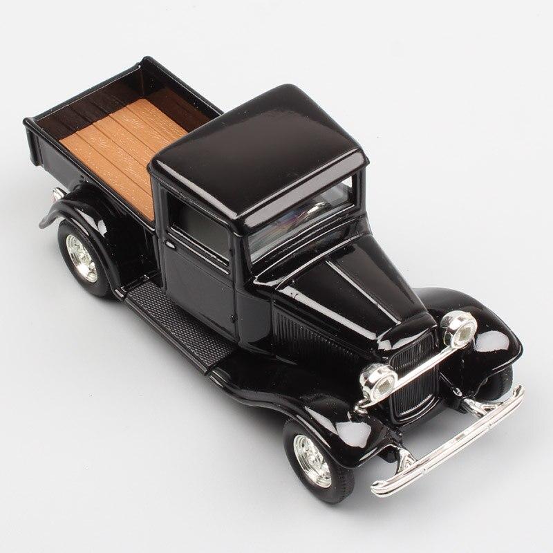 1:43 Весы небольшой классический ретро 1934 Ford Палочки грузовики Модель B 40 МЕТАЛЛ Diecasting моделирование коллекции автомобилей для ребенок черны...