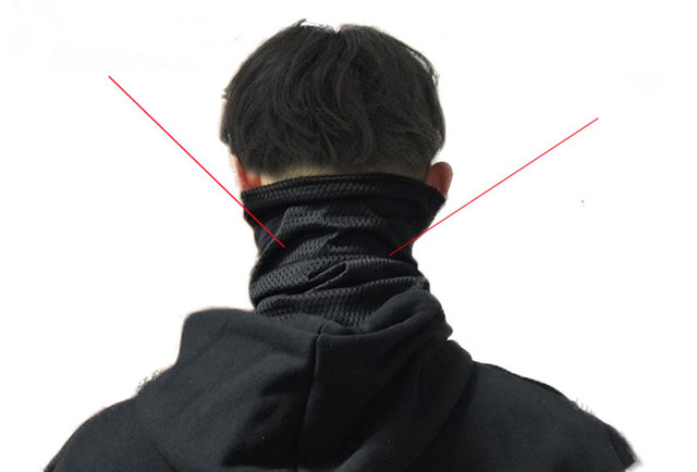 Alan walker All falls down Veil Reticulate Cosplay Scarf Full Face Mask Adult Black Masks 2