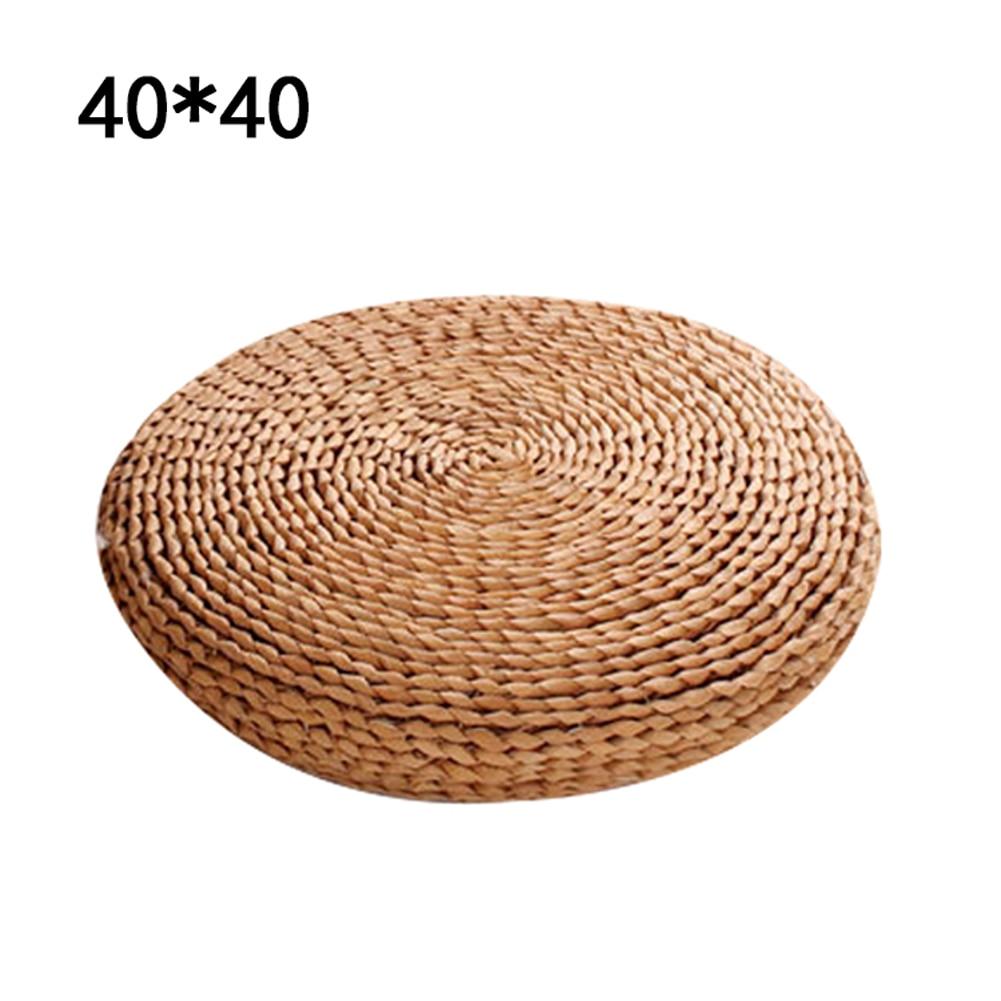 HTB1zuW B4uTBuNkHFNRq6A9qpXaH Tatami Futon Meditation Cushion Thickening Yoga Circle Corn Husk Straw Braid Mat Japanese Style Cushion with Silk Wadding