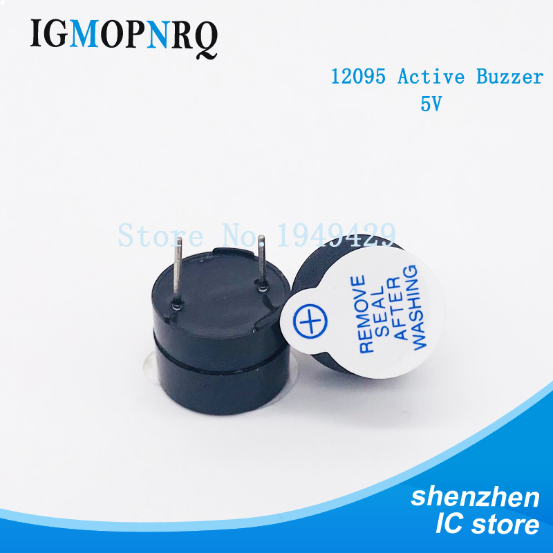100PCS 12095 Active Buzzer Alarm 5V 12*9.5mm Sounder speaker Buzzer-in Integrated Circuits from Electronic Components & Supplies
