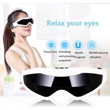 Электрический массажер для глаз Маска Мигрень глаз улучшение зрения лоб Eye Care очки массажер вибрации глаз магнитотерапия