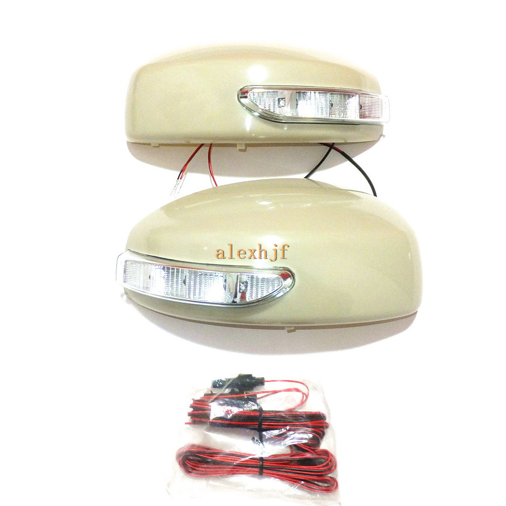 LED Rear-view Mirror Lights With Cover,  LED Yellow Turn Signal Lights Case for Nissan Skyline (V36) Infiniti G35 2006~ON