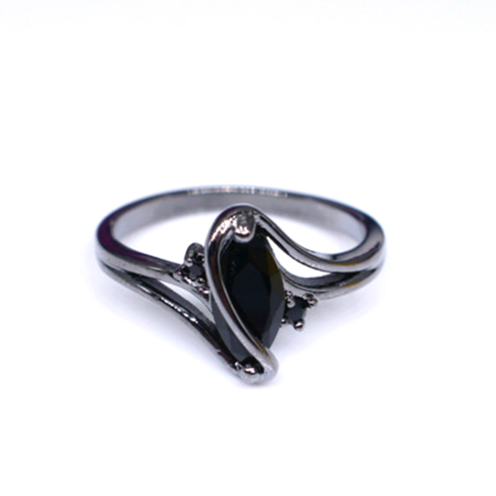 4 Color Fashion Elegant Original Crystal  Rings Black Gold Color Filled Pure Copper  Rings For Women Fa Jewelry