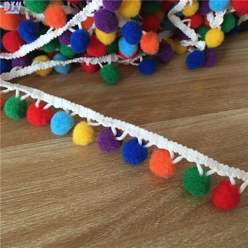 1 Yard Pom Pom Ball fringe Trim Ribbon DIY Handmade Sewing Crafts
