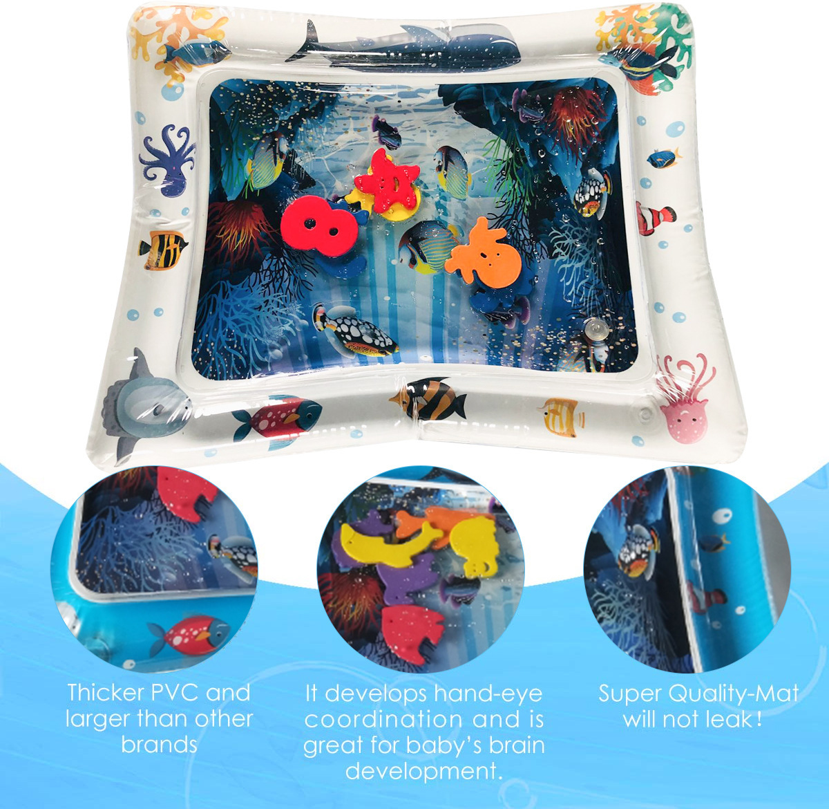 HTB1zuXlMNjaK1RjSZFAq6zdLFXas Baby Inflatable Water Play Mat Infant Summer Beach Water Mat Toddler Fun Activity Play Toys for Sensory Stimulation Motor Skills