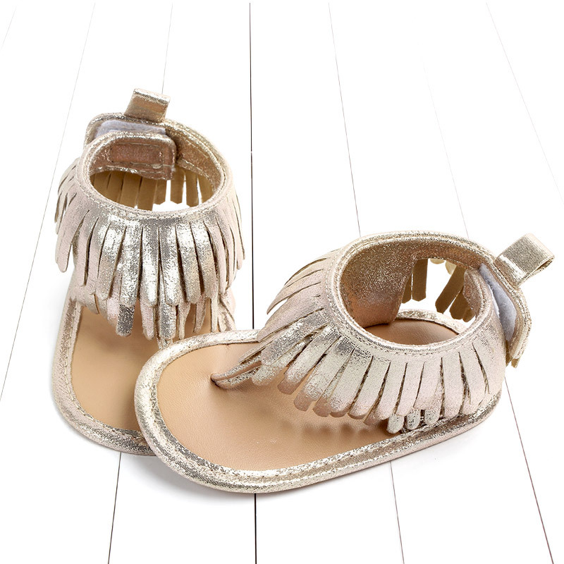 Baby comfortable sandals 2018 summer new boy girls beach shoes kids casual sandals children fashion Baby Girl Tassel Sandals (3)