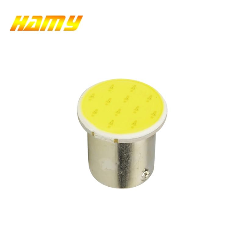 1x S25 P21W 1157 Bay15d 1156 BA15S COB Car Motorcycle LED Bulb Turn Signal Reverse Lamp Parking Brake Light Steering Driving Red