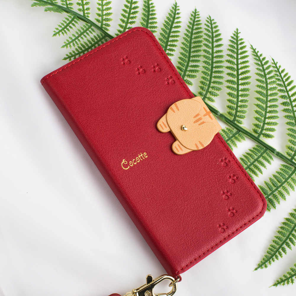 680f8e16c For iPhone Xs Xr Case Luxury PU Leather Wallet Cases Cute Cat Button  Magnetic Cards Holder