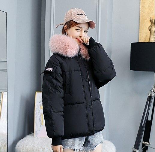 Court Doudoune Mode Poches Hiver 2018 Green Chaud noir À Grande army rose Vestes Manteaux gris Et Capuche Caramel blanc Taille De Femme FcKJ3T1l