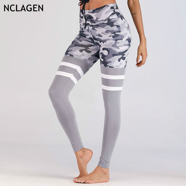 60edd644603b9 NCLAGEN 2018 New Women Sexy Camouflage Print Leggings Booty Pencil Pants  Workout Gyms Spandex Camo Leggings Butt Activewears