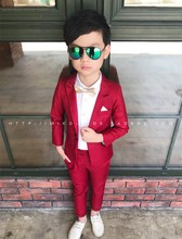 Red Black Regular Formal Style Blazers 2Piece For Boys Coat+Pant KS-1808