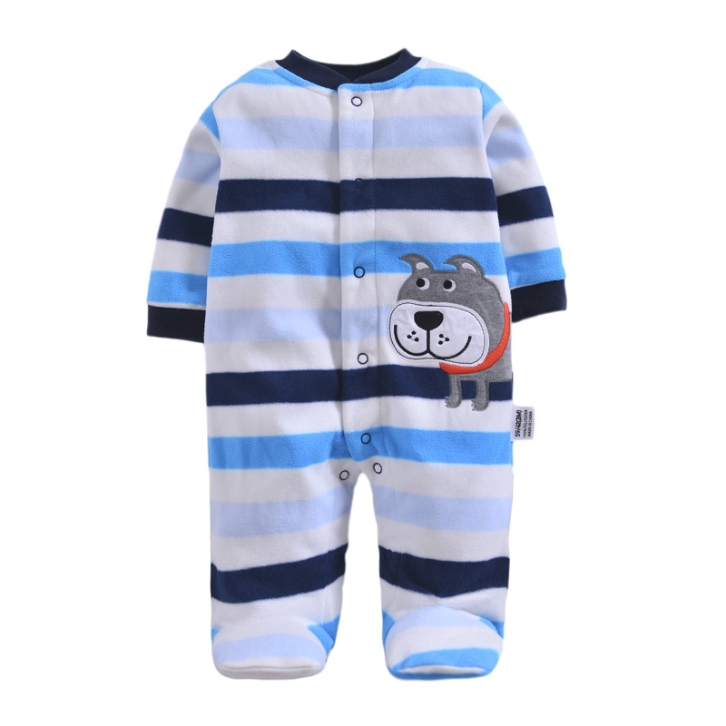 2018 new Winter Fleece baby clothes baby girls boys Long sleeves bodysuit baby boy jumpsuit paul frank baby boys supper julius fleece hoodie