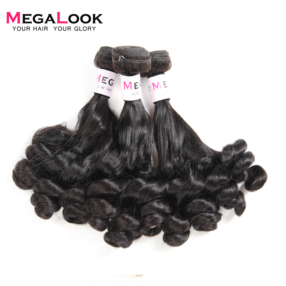Funmi Pear Flower Curly Human Hair Bundles 3 Bundles Deal Narutal Color Remy Human Hair Extension