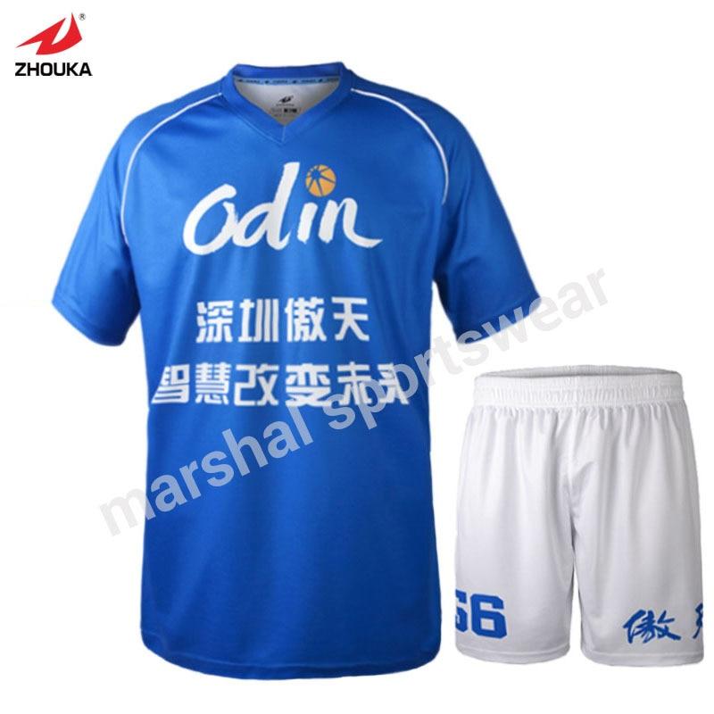 High Quality Wholesale Custom Design survetement football 2018 2019 Blue  soccer suit football sports kit sports suits men d4b138254