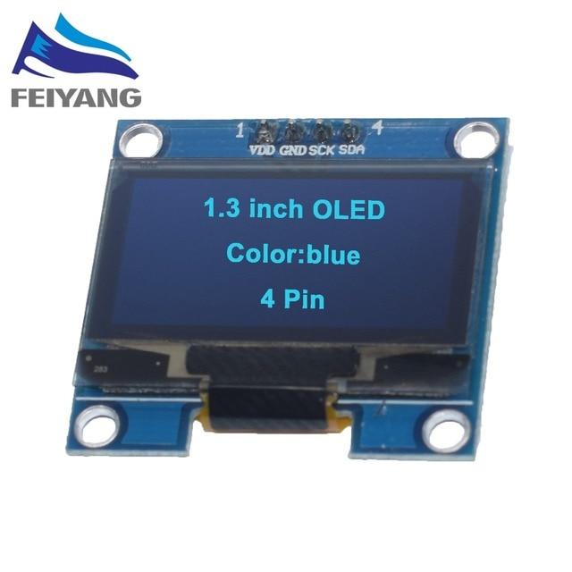 "1 pièces SAMIORE ROBOT 1.3 ""O LED module bleu couleur IIC 4PIN 128X64 1.3 pouces O LED écran LED lcd Module 1.3"" IIC I2C Communiquer"
