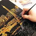Decorative painting scratch Scraping painting drawing paper world Sightseeing pictures home decoration birthday gifts