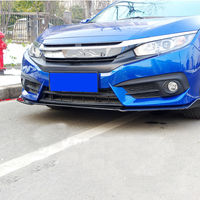 abs Front Bumper Lip Body Spoiler Body Kits fit For Honda Civic 10th 2016 2018