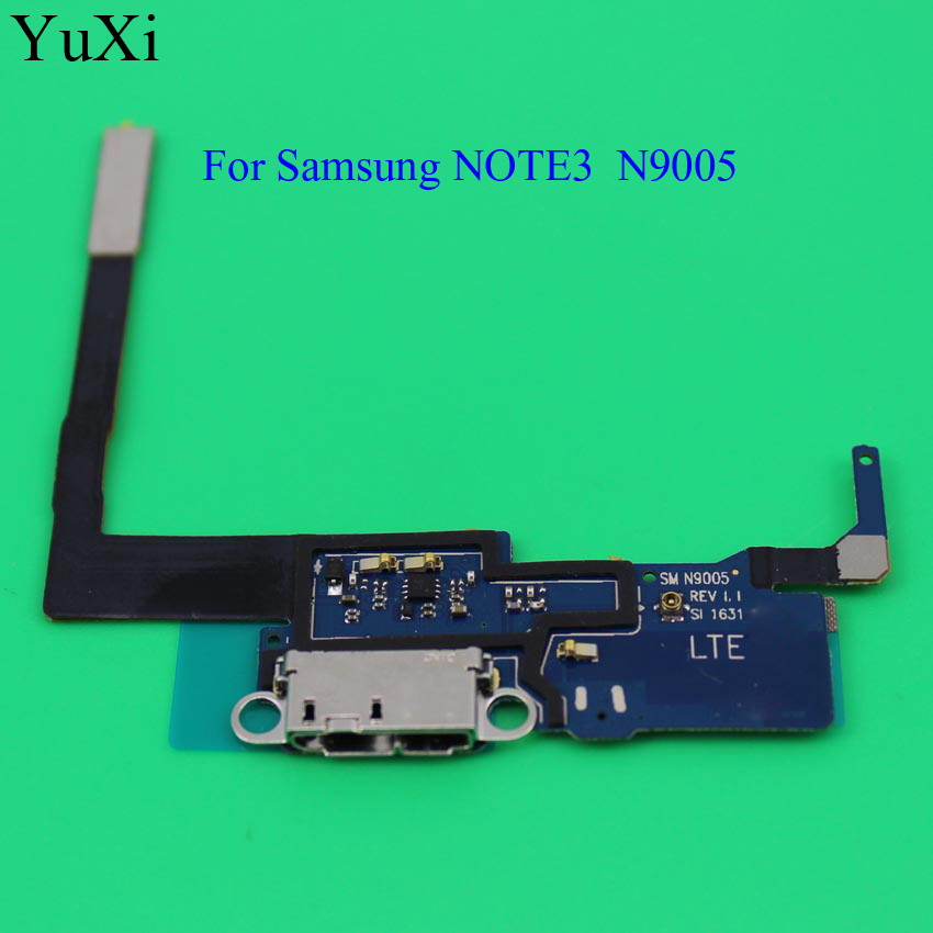 YuXi  Replacement Charging Flex Cable For Samsung Galaxy Note 3 Note3  N9005 Microphone USB Port Socket Dock Connector
