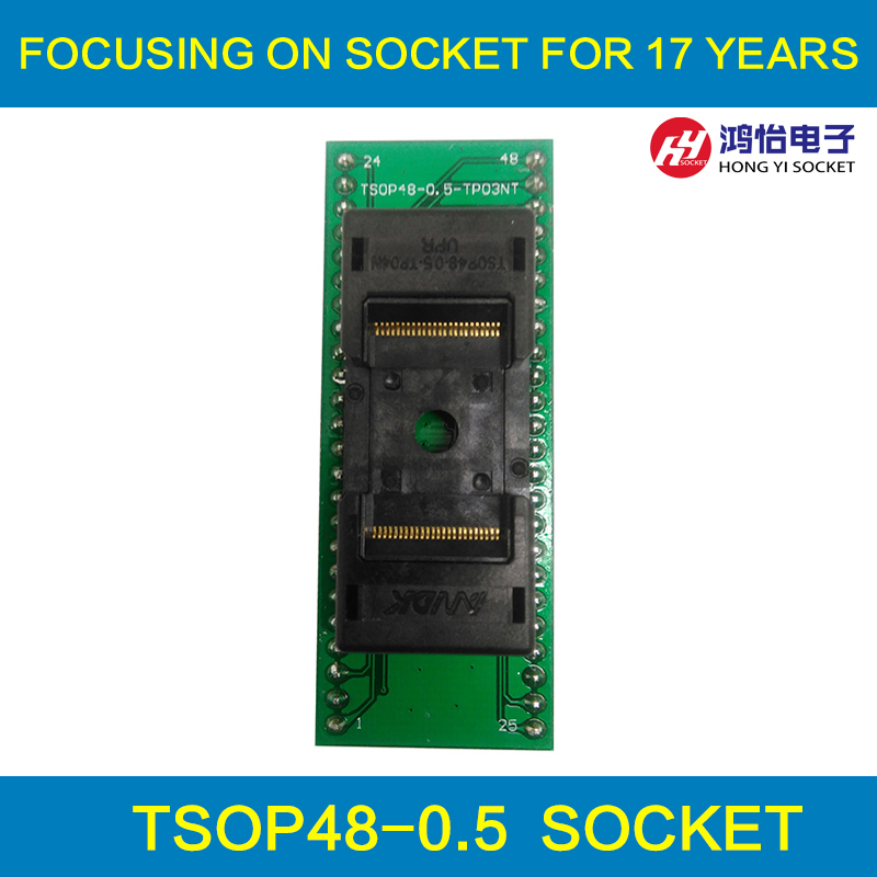 ANDK High Quality Long TSOP48-0.5 Open Top Structure Burn in Socket IC Test Socket Flash Test Socket Adapter tnm5000 programmer qfn48 0 5 ic test block adapter test bench burn in