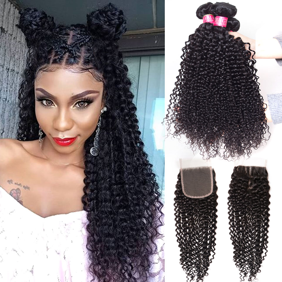 afro kinky curly bundles with closure Peruvian brazilian hair weave bundles with closure human hair wet and wavy bundles with closure mongolian kinky curly bundles with closure human hair bundles with closure deep curly brazi