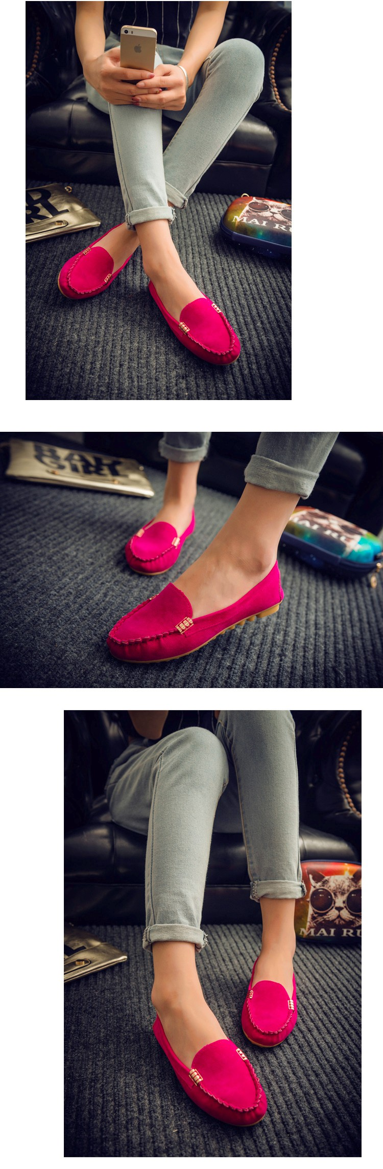 Hot Sale 2016 Summer Woman Flats New Fashion Pure Color Wild Concise Flat Casual Shoes Round Toe Comfortable Female Shoes DT81 (2)